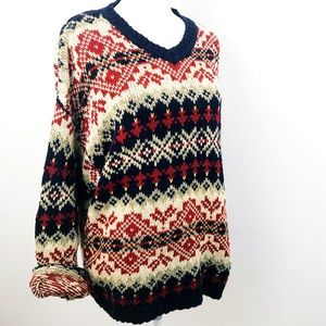 Vintage Abercrombie Chunky Nordic Knit Sweater